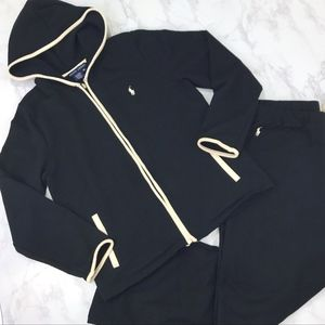 Ralph Lauren Track Suit Medium Black & Cream